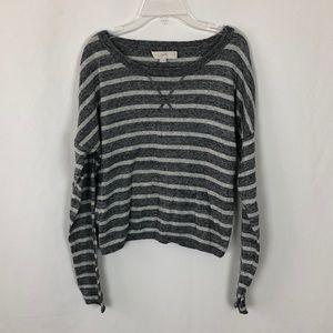 Ann Taylor Loft striped cropped sweater G17